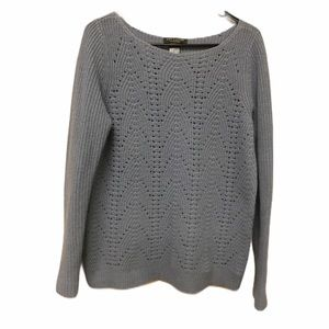Ann Taylor Cashmere Wool Blend Pullover Sw…